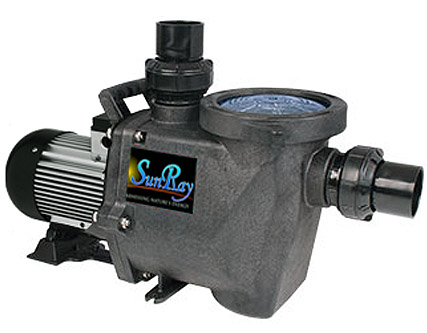SunRay Solar Powered Pool Pumps - Brushless motor is ultra-efficient and maintenance free - Pre wired and Tested before shipping - ready to install - Produces Zero Pollution