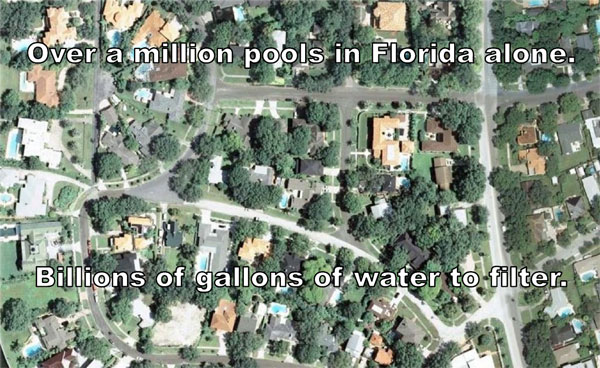 There are over a million pools in Florida that need an effective energy solution - our solar water pump.