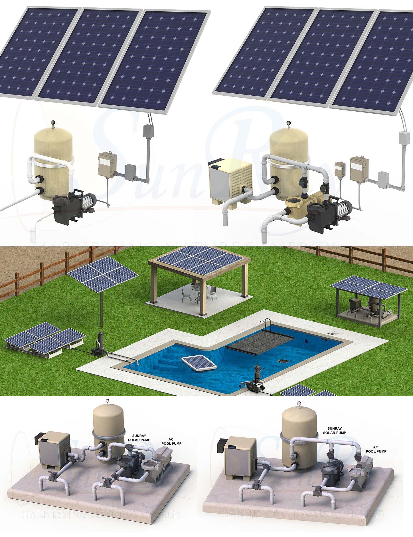 SunRay Solar Pool Pumps - Solar Powered Pool Pumps